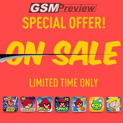 Всички Angry Birds HD игри на промоция за Android и iOS!