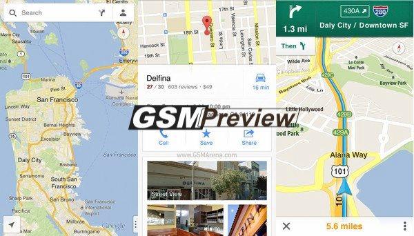 Google Maps с безплатно приложение за iPhone