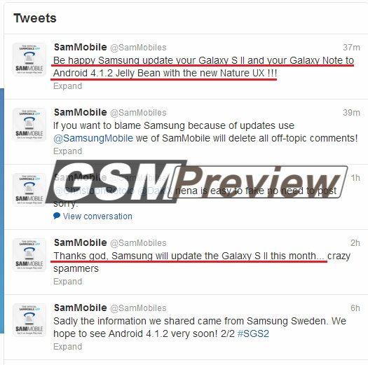 Официален ъпдейт на Galaxy S II и Galaxy Note до Android версия 4.1.2 излиза този месец