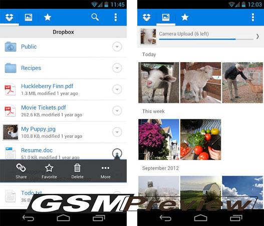 Dropbox актуализира приложението си за Android