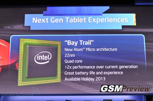 """Intel представи четириядрен процесор """"Bay Trail"""" за таблети"""
