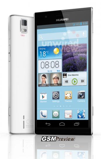 Появиха се изображения на Huawei Ascend P2 преди MWC 2013