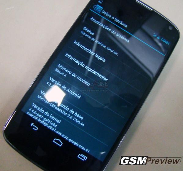 Nexus 4 със Android 4.2.2 във Бразилия