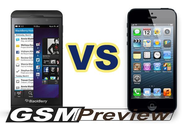 BlackBerry Z10 vs iPhone 5 – Видео