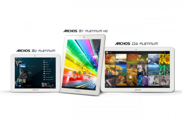 Archos Platinum Series,нова серия четири ядрени таблети с Android Jelly Bean на достъпни цени