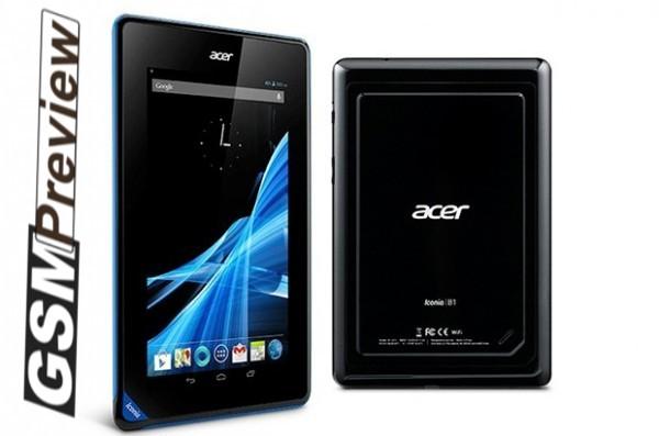 Acer представи Iconia B1 7″ tablet,16GB и ще дебютира в Европа на цена €139