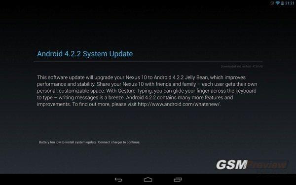 Android 4.2.2 ъпдейт за Galaxy Nexus, Nexus 7, Nexus 10