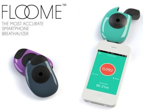 Устройството Floome превръща смартфона в алкохолен тестер